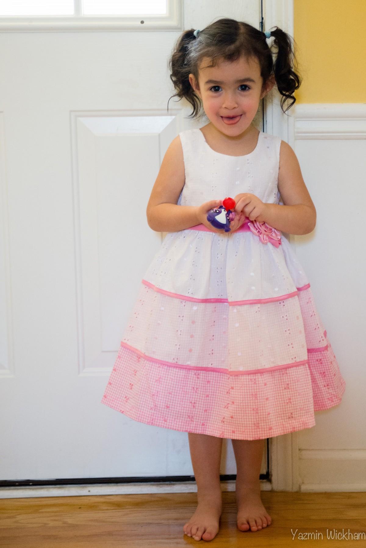 {135/365} Immediately modeling dress from nana