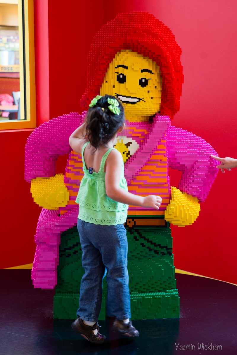 "Saying ""Hi"" to the Lego girl"