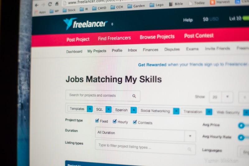 {286/365} One month on Freelancer.com...