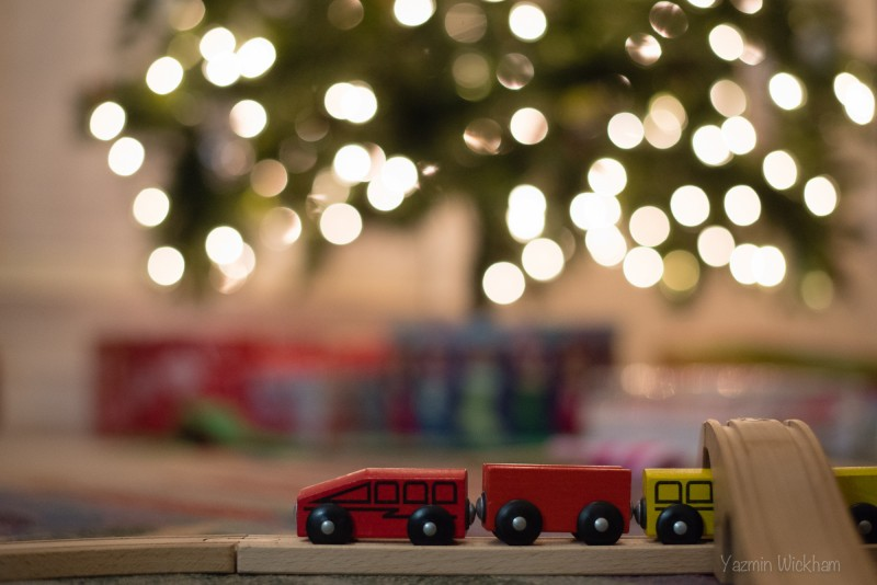 {332/365} Wooden train bokeh