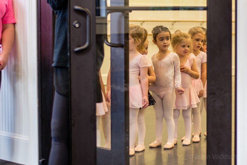 {340/365} Waiting our turn to leave ballet class