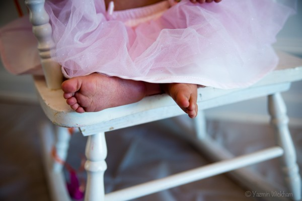 Baby Feet & Pink Tutu