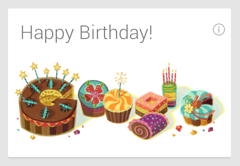 Happy Birthday message from my Android