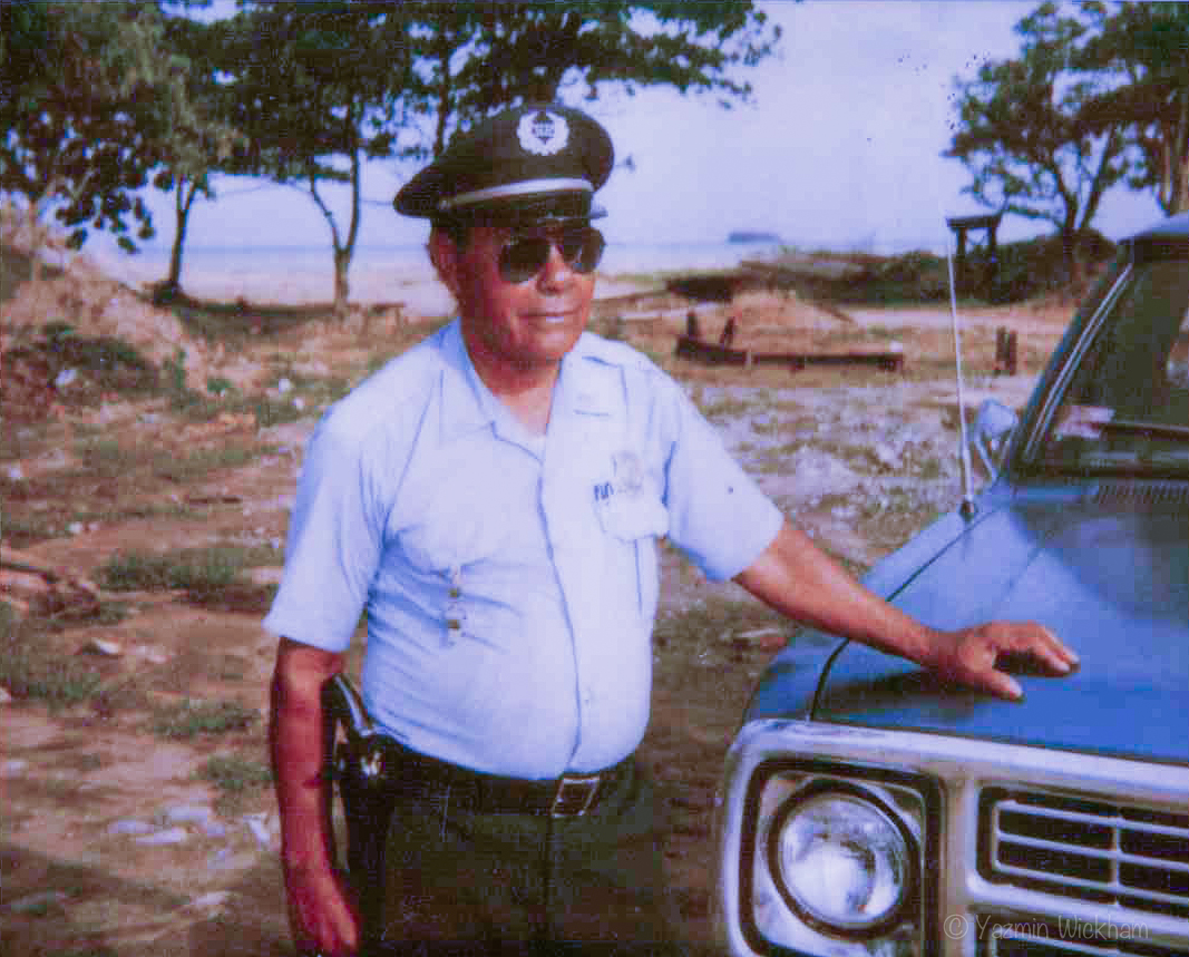 Abuelito in security uniform