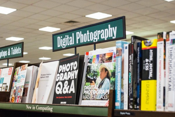 Digital Photography Sign at Barnes & Nobles