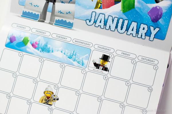 LEGO January 2015 Calendar